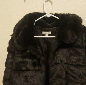 Dressbarn faux fur jacket